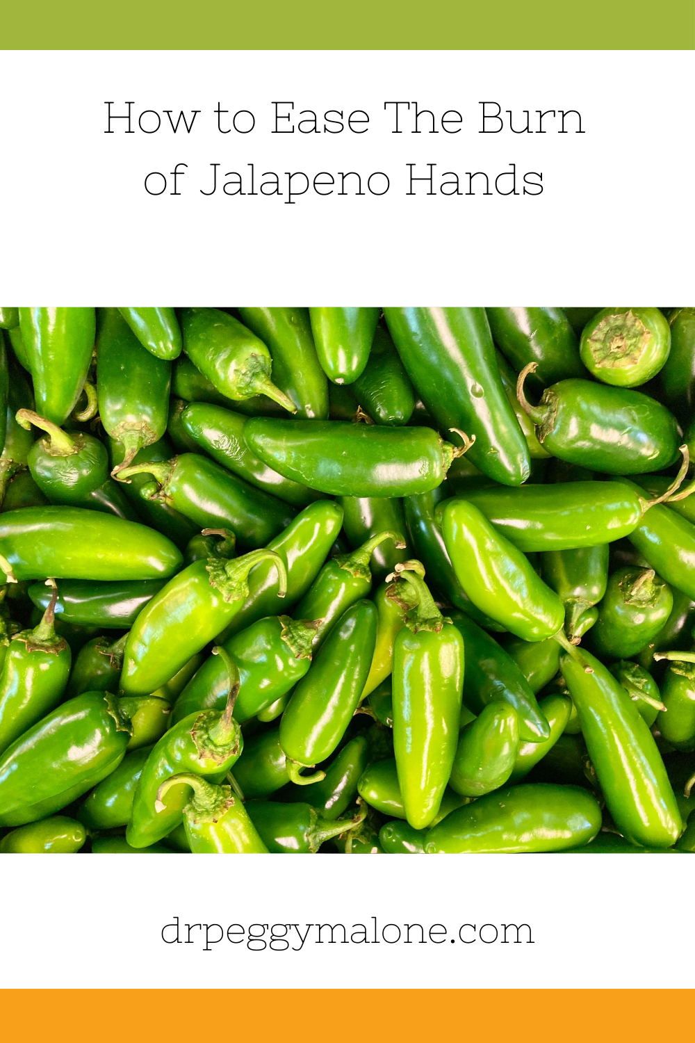 How to Ease The Burn of Jalopeno Hands