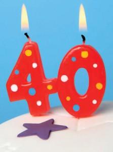 So I'm 40