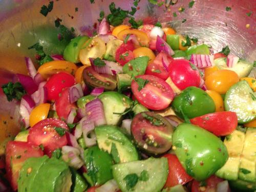 Tomato and Tomatillo Salad