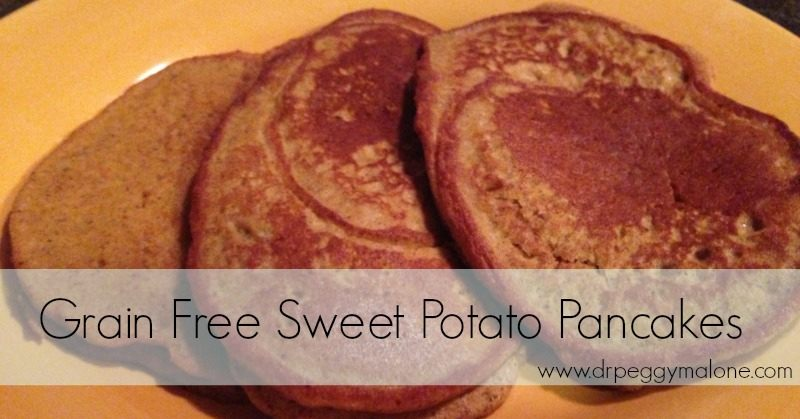 Grain Free Sweet Potato Pancakes