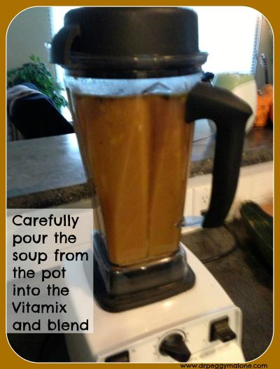 Soup in the Vitamix