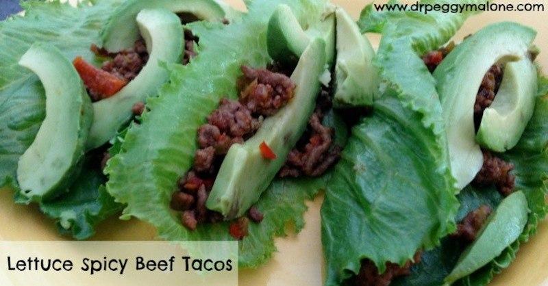 Lettuce Spicy Beef Tacos