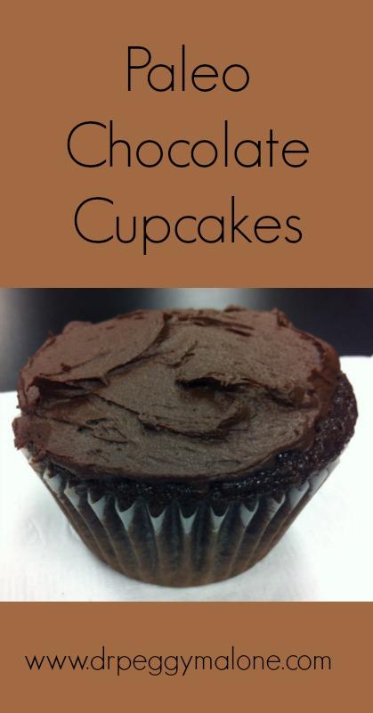Paleo Chocolate Cupcakes Pin