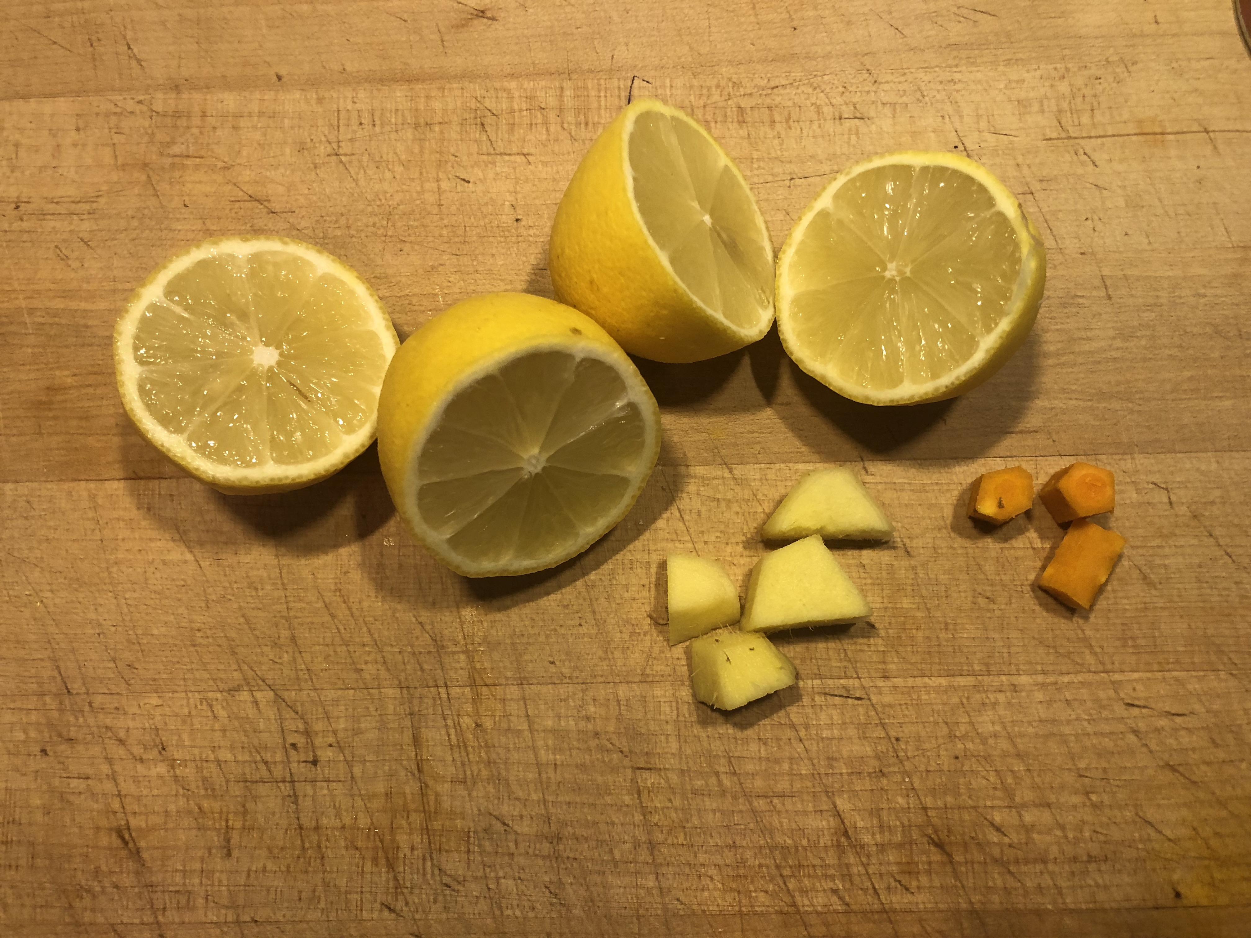 lemons, ginger, turmeric