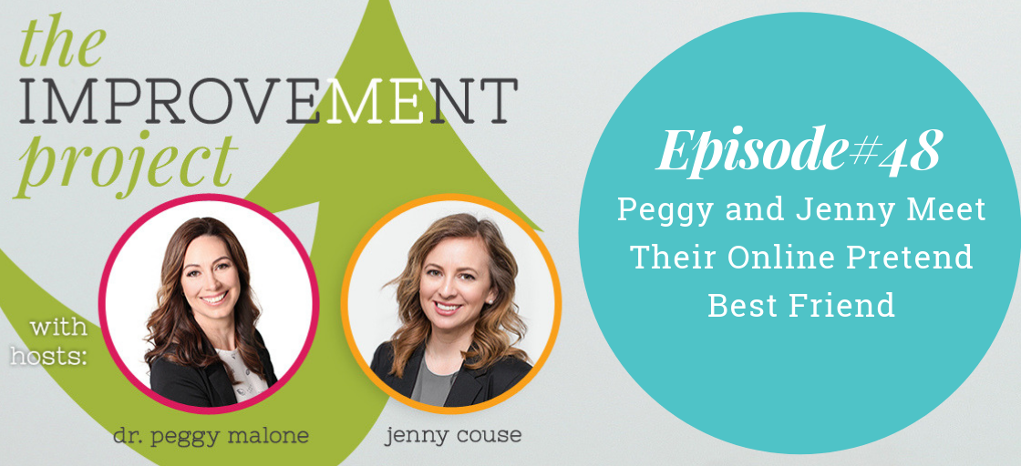 Peggy and Jenny Meet Their Online Pretend Best Friend